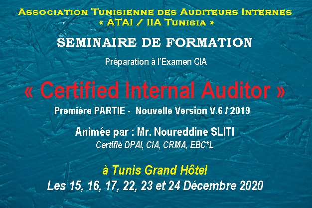 Certified Internal Auditor «PARTIE 1»